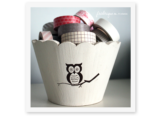 Pot hibou 2 masking tape frederique m bloomini studio scrapbooking