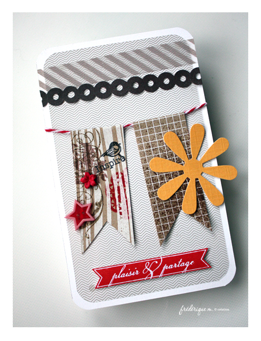 Carte tampon plaisir & partage carterie scrapbooking bloomini studio