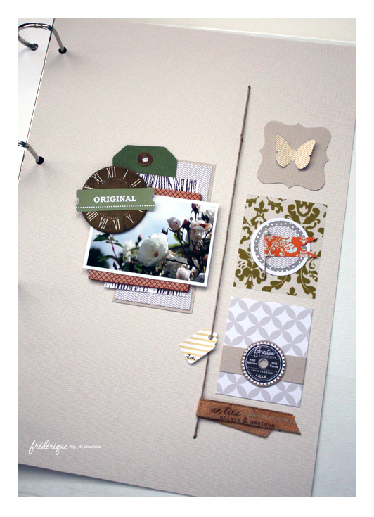 Page Original frederique scrapbooking Bloomini Studio